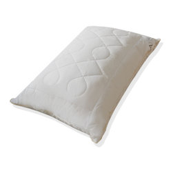 A1 Home Collections - Hypoallergenic Quilted Diamond Chain-patterned Microfiber Jumbo-size Pillow Pair - Featuring a quilted design of leaves, these pillows offer great firmness and support. Silk braided piping adds style. These pillows are made of the best quality microfiber, giving them ideal softness and perfect fill power, similar to a down pillow. These pillows are hypoallergenic and minimize allergies.