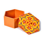 """Concepts Life - Concepts Life HandPainted Moroccan Box - This majestic decorative box is wonderful for the mantle or coffee table. We store precious photos and keepsakes in these intricate hand-painted Moroccan boxes, and the beautiful colors and hexagonal flare add an enchanting accent to any space.  Hand-painted wooden box with lid Vivid colors Perfect as a decorative item or use to store keepsakes Dimensions: 3""""h x 6"""" diameter"""