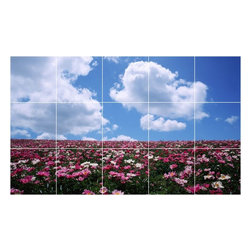 Picture-Tiles, LLC - Sky Clouds Photo Bathroom Shower Tile Mural  18 x 30 - * Sky Clouds Photo Bathroom Shower Tile Mural 1439