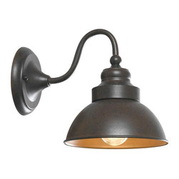 World Imports - Dark Sky Magazine Street Outdoor 1-Light Wall Sconce, Bronze - 1-60 Watt medium bulb