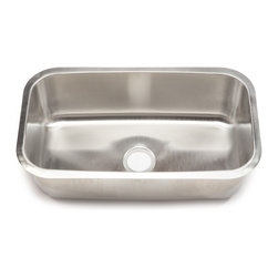 Clark - Clark Stainless Steel Extra Large Single-bowl Undermount Kitchen Sink - With elegant corner radii and a lustrous satin finish, the classic extra large single-bowl kitchen sink from Clark adds a timeless design element to any kitchen decor. This sink comes with industrial grade sound-deadening pads and DripGuard.
