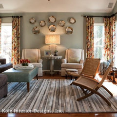 eclectic family room by Kandrac & Kole Interior Designs, Inc.