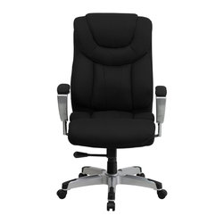 Flash Furniture - Flash Furniture Office Chairs Big and Tall Chairs X-GG-BAF-KB-4351-OG - Get the comfort needed to perform all any task in this stylish and plush padded Big and Tall Office Chair by Flash Furniture. This executive chair comfortably fits users up to 400 lbs. Chair features height and width adjustable arms, built-in lumbar support and a spring tilt mechanism. [GO-1534-BK-FAB-GG]