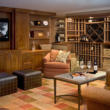 Traditional Basement by Susan Dearborn Interiors, Inc.
