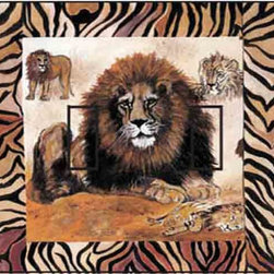 IdeaStix - Lion Double Toggle Peel and Stick Switch Plate Cover - SwitchStix transforms an ordinary switch plate into beautiful art decorations.  Made from proprietary rubber-resin, Premium SwitchStix Peel and Stick Decor offers a quick and easy solution for decorating plain switch plates.  With features like water/heat/steam-resistant, nontoxic, washable, removable and reusable, it is ideal for any room in the house or office.  SwitchStix fits standard size switch plates and applies right over the switch plate and it even covers the screw holes.  Suitable for standard size non-porous and smooth switch plates.  Discard mid-section for toggle switch placement.  Surface can be washed with most household cleaning products.