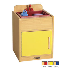 Ecr4kids - Ecr4Kids Colorful Essentials Home Kids Pretend Play Kitchen Sink Set Blue - A charming, laminate play sink built to endure endless hours of play. rounded edges for safety and style, easy to reach shelves underneath with plenty of room for storage of your favorite toy foods and dishes, and magnetic latches and full-length continuous piano hinges. Encourages dramatic play and social interaction in the classroom or home. Available in an easy-to-clean warm maple laminate and coordinating edgebanding with primary colored sides that match all items in the Colorful Essentials product line.