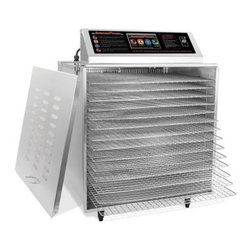 TSM 32629 14 Tray Digital Touch Screen Insulated Food Dehydrator with Stainless - About TSM Products Located in Buffalo, NY, TSM Products (The Sausage Maker, Inc.) produces a wide range of food processing products, from dehydrators and sausage stuffers to cherry stoners and cabbage shredders. The company's original Sausage Maker designs are incorporated into each TSM product. With skilled workmanship, dedicated attention to detail, and modern equipment, TSM Products makes a point to provide their customers with the best high-quality machines they can create. The TSM product line is available to customers worldwide.