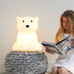 Mr Maria - Nanuk lamp - A modern designer lamp for kids. LED powered, made of durable polyethylene and equipped with a dimmer. This minimalist designer lamp will fit well into any modern contemporary space.