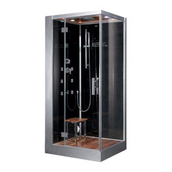 Ariel Platinum - Ariel Platinum DZ960F8 Steam Shower 39.3x35.4x89.2 - Left - These fully loaded steam showers include massage jets, ceiling & handheld showerheads, chromotherapy, aromatherapy and built in radios to help maximize the therapeutic experience.