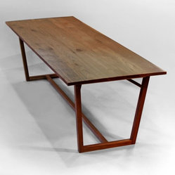 Structured Green Finn Table Dining Room