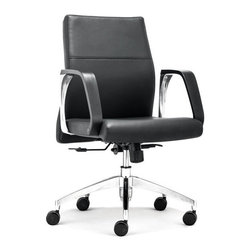 ZUO - Conductor Low Back Office Chair - Very office chic, the Conductor Office Chair makes the day go faster. Plush leatherette on a rolling steel frame, the back is perfectly angled for comfort. Comes in high or low, sold separately.