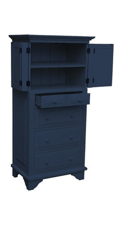 EuroLux Home - New Tall Door Chest of Drawers Blue Painted - Product Details