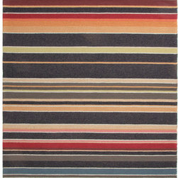 """Jaipur Rugs - Colours I-O Charcoal Stripe Rug - Features: -Technique: Hooked / Looped cut.-Material: Polypropylene.-Origin: China.-Indoor and outdoor style.-Durable.-Easy care.-Luxurious and unique.-Polyester is dirt and stain resistant and will look great for a long time just by vacuuming regularly.-Dries fast so deep steam/rug cleaning works great to release dirt from fiber.-If spills occur blot immediately.-Use rug/carpet cleaners that are safe on synthetic fibers.-Use professional cleaning agents only.-Vacuum use an attachment arm or suction only to remove dirt particles.-Construction: Handmade.-Collection: Colours I-O.-Distressed: No.-Collection: Colours.-Construction: Hand Hooked.-Technique: Indoor & Outdoor.-Primary Pattern: Stripe.-Primary Color: Deep Charcoal.-Border Material: Polypropylene.-Border Color: Deep Charcoal.-Type of Backing: Latex backing.-Material: Polypropylene.-Fringe: No.-Reversible: No.-Rug Pad Needed: No.-Water Repellent: No.-Mildew Resistant: No.-Stain Resistant: No.-Fade Resistant: No.-Eco-Friendly: No.-Outdoor Use: Yes.-Product Care: (1) Polyester is dirt and stain resistant and will look great for a long time just by vacuuming regularly, (2) Dries fast so deep steam/rug cleaning works great to release dirt from fiber, (3) If spills occur blot immediately, (4) Use rug/carpet cleaners that are safe on synthetic fibers, (5) Use professional cleaning agents only, (6) To vacuum use an attachment arm or suction only to remove dirt particles.Specifications: -CRI certified: No.-Goodweave certified: No.Dimensions: -Pile height: 0.25"""".-Pile Height: .25"""".-Overall Product Weight (Rug Size: 2' x 3'): 2.4 lbs.-Overall Product Weight (Rug Size: 3'6"""" x 5'6""""): 7.7 lbs.-Overall Product Weight (Rug Size: 5' x 7'6""""): 15 lbs.-Overall Product Weight (Rug Size: 7'6"""" x 9'6""""): 28.5 lbs.-Overall Product Weight (Rug Size: Runner 2'6"""" x 8'): 8 lbs.Warranty: -Product Warranty: 60 Days."""
