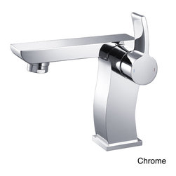 Kraus - Kraus Sonus Single Lever Bas-inch Faucet - This Kraus Sonus single-lever basin faucet features sleek lines that add a modern touch to any bathroom decor. This sing-hole,top-mount faucet is available in your choice of chrome,brushed nickel or oil rubbed bronze finishes.