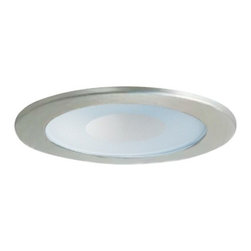 Juno Lighting Group - Shower Trim for 5-Inch Recessed Housing - 212-SC - This downlight has a perimeter frosted lens, satin chrome trim and 6-1/4-inch diameter. It is wet-rated for shower or outdoor ceiling use. For use with recessed new construction housing or remodel housing only. Wet location rated.