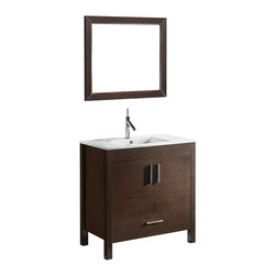 Adornus - Adornus TRENTO-30-WAL-C Walnut Vanity - * Free standing all wood vanity available