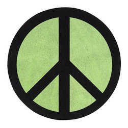 Sweet Jojo Designs - Green Peace Floor Rug by Sweet Jojo Designs - The Green Peace Floor Rug by Sweet Jojo Designs, along with the  bedding accessories.