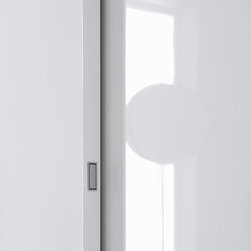 """Custom Made Closets with Sliding Doors - The """"Plane"""" sliding doors with integrated handle."""