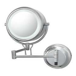 KIMBALL & YOUNG 91445HW DOUBLE SIDED CONTEMPORARY WALL MIRROR - HARDWIRED 5X / 1 -