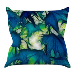 "Kess InHouse - Alison Coxon ""Leaves"" Throw Pillow (18"" x 18"") - Rest among the art you love. Transform your hang out room into a hip gallery, that's also comfortable. With this pillow you can create an environment that reflects your unique style. It's amazing what a throw pillow can do to complete a room. (Kess InHouse is not responsible for pillow fighting that may occur as the result of creative stimulation)."