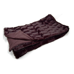Roberto Amee - Roberto Amee Faux Fur Throw - On a frosty evening,enjoy the feel of this warm faux fur throw that is both practical and beautiful. The rich,black color will accommodate any decor or color scheme and will complement your other linens. This throw must be dry cleaned.