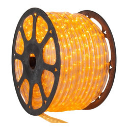 Seasonal Source - 1/2 inch 150 ft LED Yellow Rope Light - LED Rope Lighting is some of the most versatile lighting. It can be wrapped around and bent into almost any shape or object.