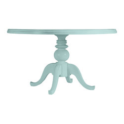 Stanley Furniture - Coastal Living Cottage Round Pedestal Table 54 Dia. - Have your cake and eat it, too-right on this durable, casual showpiece. Combines the seaside look of a weathered classic without the hassle of antique finishes. Generously sized to accommodate six hungry guests. Made to order in America.