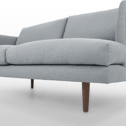 Bryght - Carl Isle Gray Loveseat - Mid century inspired design, the Carl loveseat is as comfortable as it is decadent.