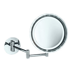 Smile Battery-Operated Lighted Makeup Mirror, 5x