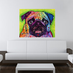 My Wonderful Walls - Pug - Dog Wall Sticker - Decal, Small - - Colorful animal pop art wall sticker decal