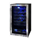 NewAir - NewAir Wine Cooler 33 Btl AWC-330E - Never wait on your wine again. This precise thermoelectric wine cooler keeps 33 of your best bottles close at hand and at the perfect serving temperature so you can simply cork, pour and enjoy.