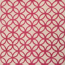 Jaipurrugs - Wool Red/Taupe Latticework Rectangle Rug Border Color Beige 2' x 3' - Hand-Tufted Geometric Pattern Wool Red/Taupe Latticework Rectangle Rug Border Color Beige 2' x 3'.