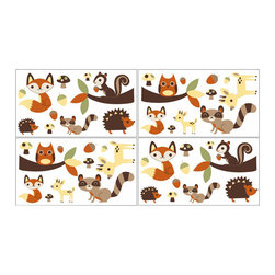 Sweet Jojo Designs - Forest Friends Wall Decals - Set of 4 by Sweet Jojo Designs - The Forest Friends Wall Decals - Set of 4 by Sweet Jojo Designs, along with the  bedding accessories.