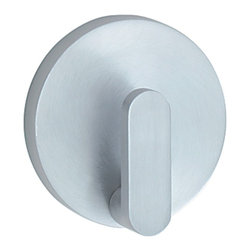 Smedbo - Loft Towel Hook in Brushed Chrome Finish - Concealed fastening. 2.13 in. W x 1 in. D x 2.13 in. H