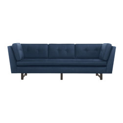Clarke 98-Inch Sofa, Ink - This sofa has clean lines and a dark, classy color. My husband would be over the moon for this one.