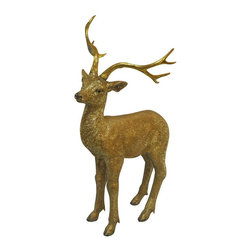 Alpine - Alpine 30 in. Deer Statue - USA240M-GD - Shop for Statues and Sculptures from Hayneedle.com! About Alpine CorporationAlpine Corporation has offices in Arizona Colorado Florida Iowa and Ohio. With a firm belief in the free enterprise system Alpine Corporation promotes equal treatment for customers employees shareholders suppliers and the community. Alpine Corporation carries a vast array of items including fountains pond and garden accessories and statuary and carries lighting and parts as well. A steadfast goal for Alpine Corporation is to continually exceed their customers' increasing expectations.