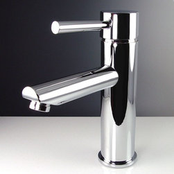Fresca - Tartaro Single Hole Mount Bathroom Faucet in - Ceramic Disc Valve. Finish: Chrome. 1/2 in. - 14 NPS Connection. Single Hole Faucet Mount. All Mounting Hardware Included. Product Material: Brass. Spout Height: 4 in. . Spout Reach: 5.75 in. . 1.75 in. W x 6.13 in. D x 7.38 in. HThis single hole faucet is made from heavy duty brass with a chrome finish. Features ceramic disc valve for longevity and watertight functionality.