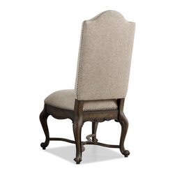 Hooker - Hooker Rhapsody Upholstered Side Chair (Set of 2) - Well furnished dining rooms with this modern upholstered chair for a chic new-age style with a traditional timeless quality. Featuring a style outlined with sleek modern fabric upholstery and a plush seat cushion that provides padded comfort. Nail head accent trim adds a decorative detail to this chairs frame, outlining the edges like a work of modern art. Complete with exposed wood feet in flare design, this upholstered chair features a traditional style with a chic contemporary update.