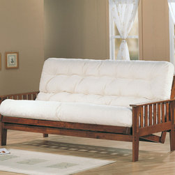 Coaster - Oak Transitional Futon Frame - Dirty oak deluxe mission style futon frame