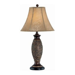 Illumine - s: Designer Collection 31 in. with Beige Fabric Shade CLI-C41162 - Shop for Lighting & Fans at The Home Depot. This 1-Light table lamp part of the Designer Collection, offers a trendy solution that is sure to satisfy all your lighting needs, by combining a chic bronze finish with a smart styled beige fabric shade. These functional yet stylish fixtures, will add a renewing element in various decor settings. This table lamp is sure to exceed your expectations.