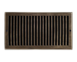 "Brass Elegans 116H AB Brass Decorative Air Return Vent Cover - Contemporary - An - This antique brass finish solid brass air return vent cover with a contemporary design fits 6"" x 12"" duct openings and adds the perfect accent to your home decor."