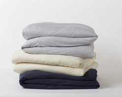 Jersey Duvet Cover - Capturing everything you love about your favorite vintage T-shirt, our jersey bedding is just that soft, just that comforting and just that easy to care for. Knit from organic cotton to create a jersey like no other.