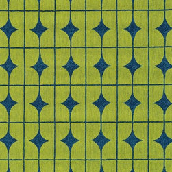 """Loloi Rugs - Loloi Rugs Venice Beach Collection - Lime/Blue, 3'-6"""" x 5'-6"""" - The Venice Beach Collection brightens up your home - inside or out - with a series of appealing, modern, hand-hooked designs from China. Made of 100-percent polypropylene, the rugs are UV and mildew-resistant."""