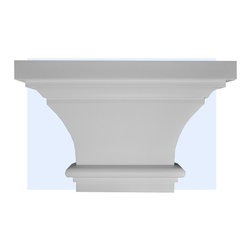 "Inviting Home - Pittsburgh Capital - Capital for pilaster 13""W x 8-7/8""H x 3-7/8""D bottom is 7""W x 1""D This outstanding quality capital made from high density polyurethane factory primed. This capital is lightweight durable and easy to install using common woodworking tools. Capital for pilasters can be finished with any quality paints."