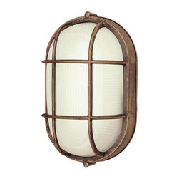 Trans Globe Lighting - Trans Globe Lighting PL-41005 RT Bulkhead In Rust - Part Number: PL-41005 RT
