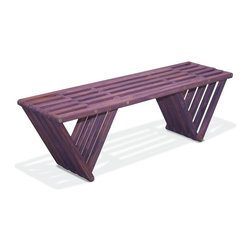 GloDea - GloDea Bench X60 - Purple Berry - The XQuare collection was conceptualized by the Brazilian designer Ignacio Lejarcegui Santos. This furniture line of unique designs is handcrafted 100% in Jacksonville, FL (USA). It is made from eco friendly premium southern yellow Pine, assembled using high quality stainless steel hardware and shipped in recyclable packaging! The XQuare collection has a modern and daring design with eye-catching lines that will surely get you many great compliments.