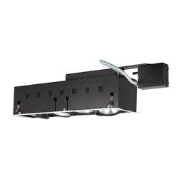 Jesco Lighting - Jesco MGRP38-4WB 4-Light Double Gimbal Linear Recessed Fixture Line Voltage - Jesco MGRP38-4WB 4-Light Double Gimbal Linear Recessed Fixture Line Voltage