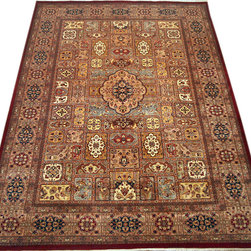 "ALRUG - Handmade Multi-colored Persian Bakhtiar Rug 6' 11"" x 10' 2"" (ft) - This Pakistani Bakhtiar design rug is hand-knotted with Wool on Cotton."