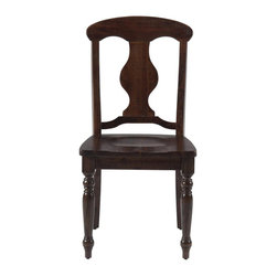 Jofran - Jofran Napoleon Side Chair in Urban Lodge Brown (Set of 2) - Jofran - Dining Chairs - 733709KD - Classically elegant and beautifully constructed, the Napoleon side chair ensures your dining area exudes traditional style. Turned legs give the piece a stately presence, while the splat back design demonstrates a more artful nature. Graceful and warm in an Urban Lodge Brown finish, the Napoleon side chair bestows any room with traditional elegance.