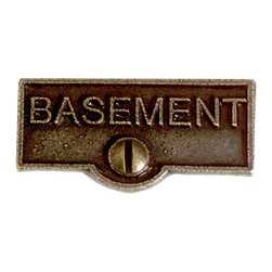 Renovators Supply - Switch Plate Tags Antique Brass BASEMENT Switch Tag 1 11/16'' W - Forget which switch is for what? Try our ID switchplate tags and identify your switches. Our switchplate ID tags are made from SOLID CAST BRASS and come with a TARNISH-RESISTANT ANTIQUE BRASS finish. EASY installation and fits standard switchplates. Coordinating screw included. Measures 13/16 in. H x 1 11/16 in. W.